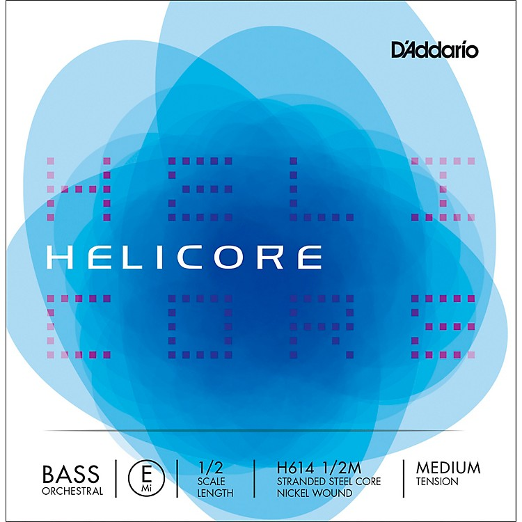D'Addario Helicore Orchestral Series Double Bass E String 1/2 Size