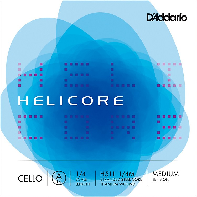 D'Addario Helicore Series Cello A String 1/4 Size