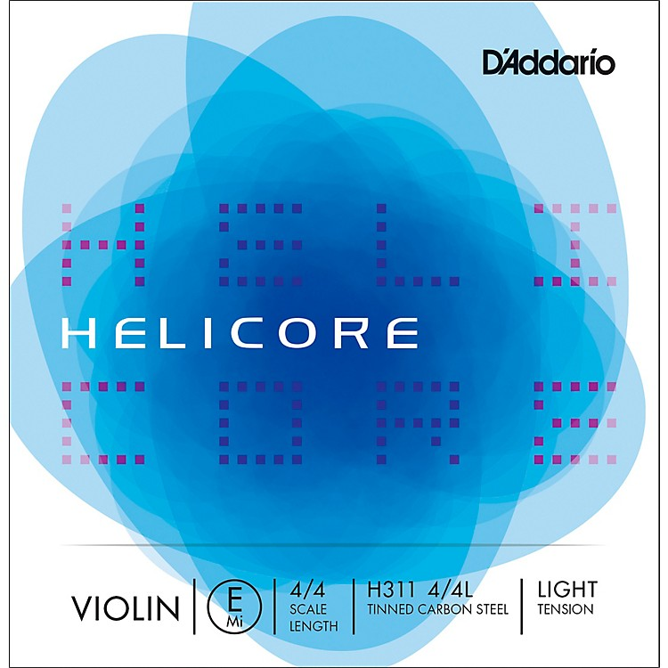D'Addario Helicore Series Violin E String 4/4 Size Light