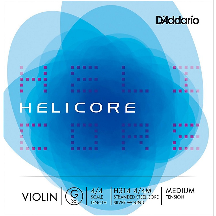 D'Addario Helicore Violin Single G String 4/4 Size Light