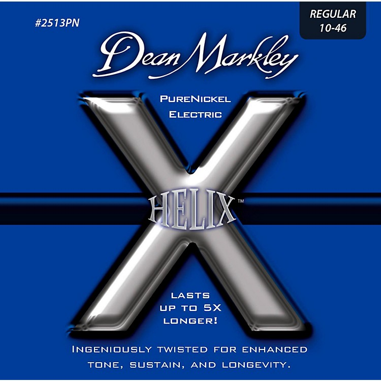 Dean MarkleyHelix Pure Nickel Regular Electric Guitar Strings (10-46)