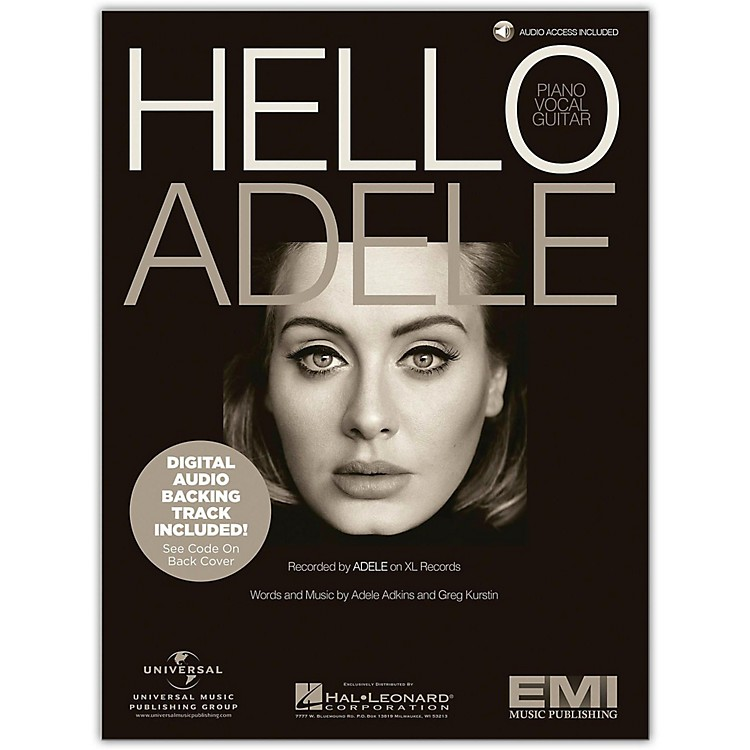 Hal LeonardHello - Adele, Piano/Vocal with Online Backing Track