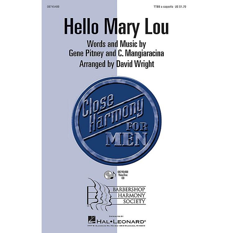 Hal LeonardHello Mary Lou TTBB A Cappella by Ricky Nelson arranged by David Wright