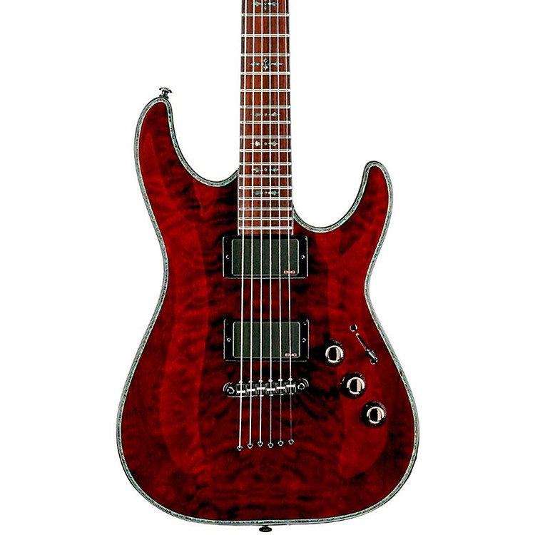 Schecter Guitar Research Hellraiser C-1 Electric Guitar Black Cherry