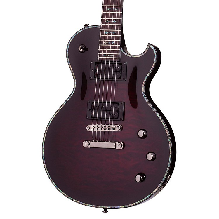 Schecter Guitar Research Hellraiser Solo-II Passive Electric Guitar Black Cherry Burst