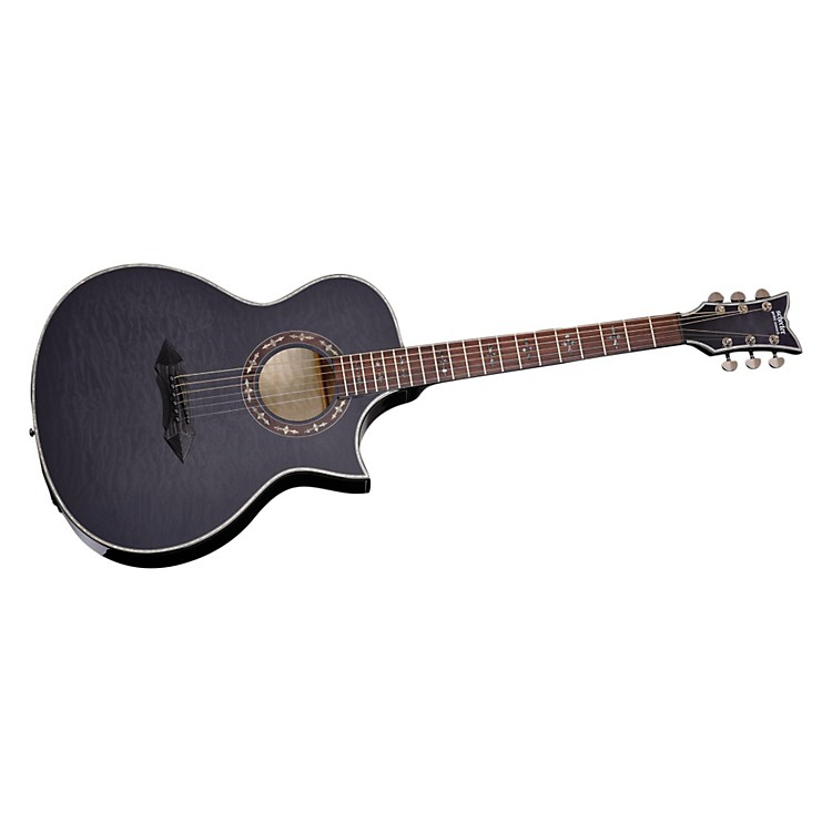 Schecter Guitar Research Hellraiser Stage Acoustic-Electric Guitar See-Thru Black