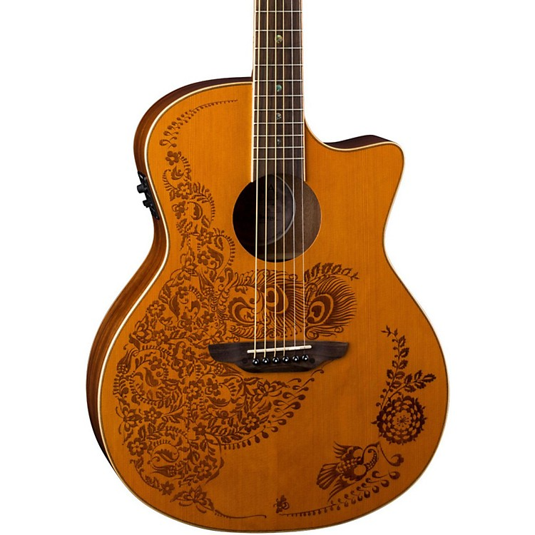 Luna Guitars Henna 0asis Cedar Acoustic-Electric Guitar Satin Natural