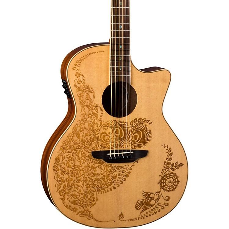 Luna GuitarsHenna Oasis Spruce Acoustic Electric GuitarNatural