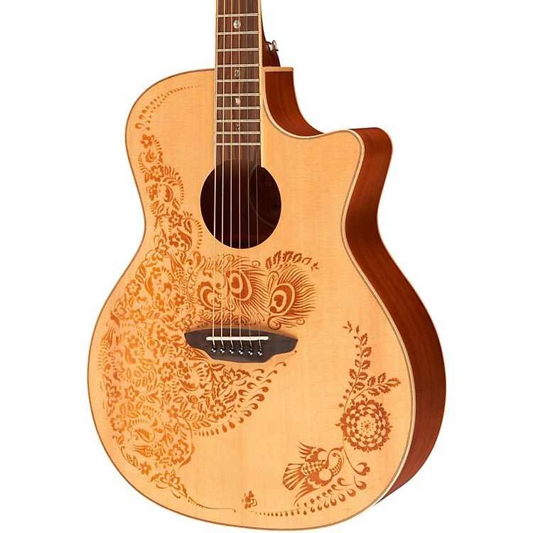 Luna Guitars Henna Oasis Spruce Series II Acoustic-Electric Guitar