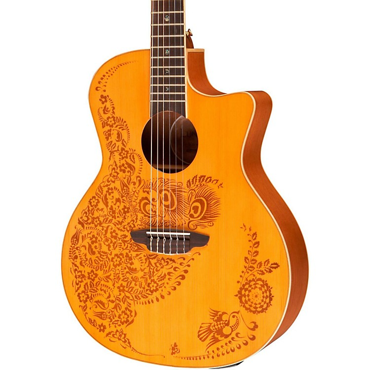 Luna Guitars Henna Oasis Spruce Series II Nylon String Acoustic-Electric Guitar