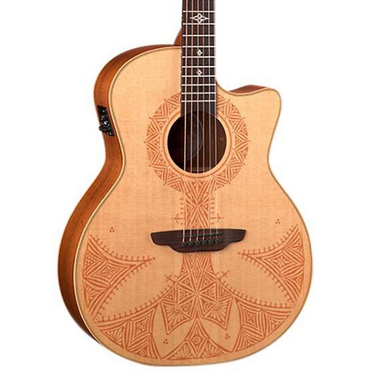 Luna GuitarsHenna Sahara Acoustic-Electric Guitar