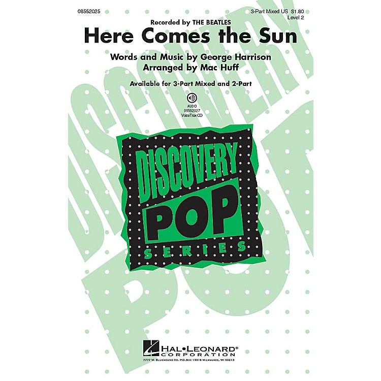 Hal LeonardHere Comes the Sun 2-Part Arranged by Mac Huff