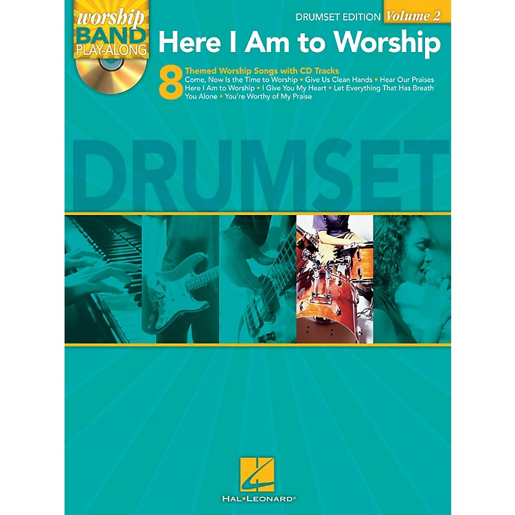 Hal LeonardHere I Am to Worship - Drums Edition Worship Band Play-Along Series Softcover with CD
