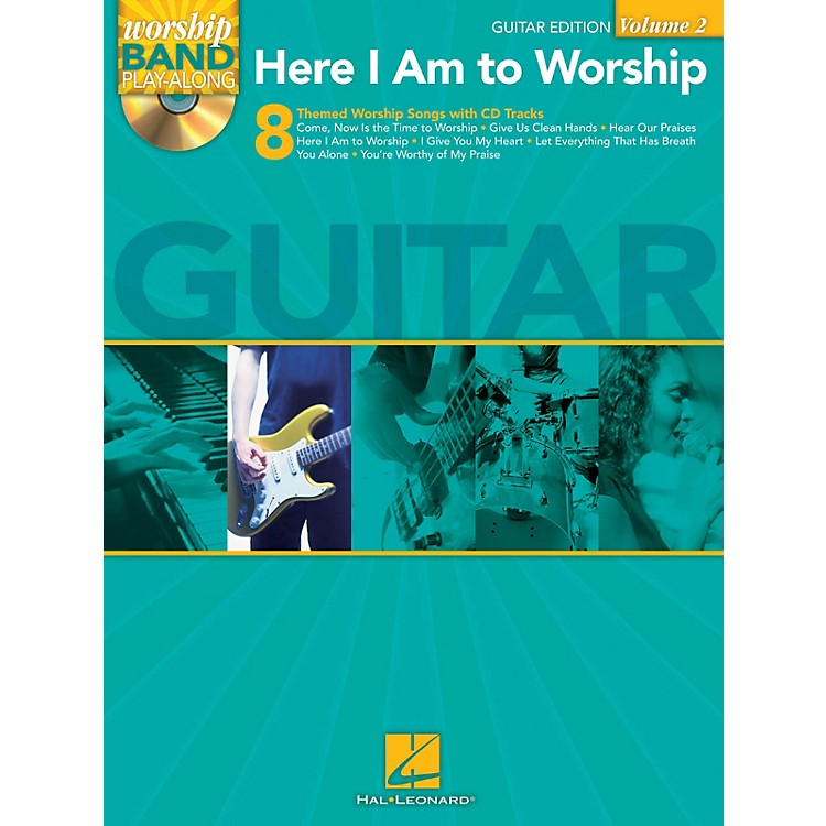 Hal LeonardHere I Am to Worship - Guitar Edition Worship Band Play-Along Series Softcover with CD