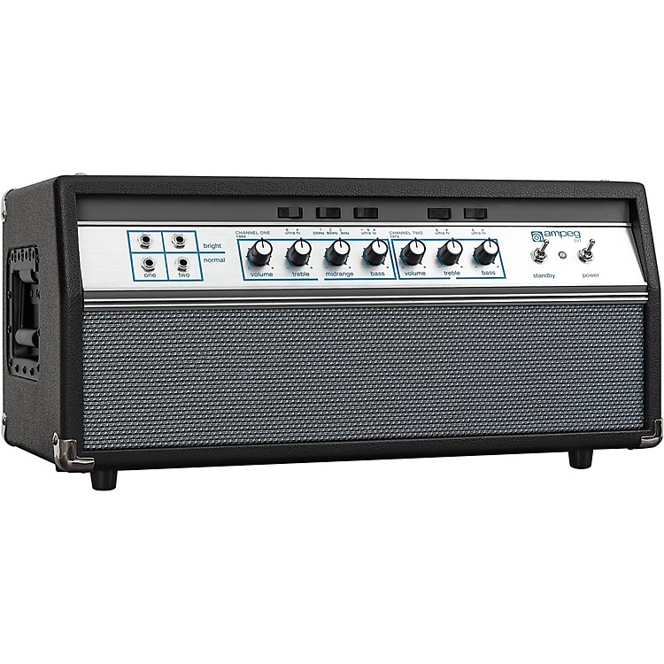 AmpegHeritage 50th Anniversary SVT 300W Tube Bass Amp HeadBlack and Silver