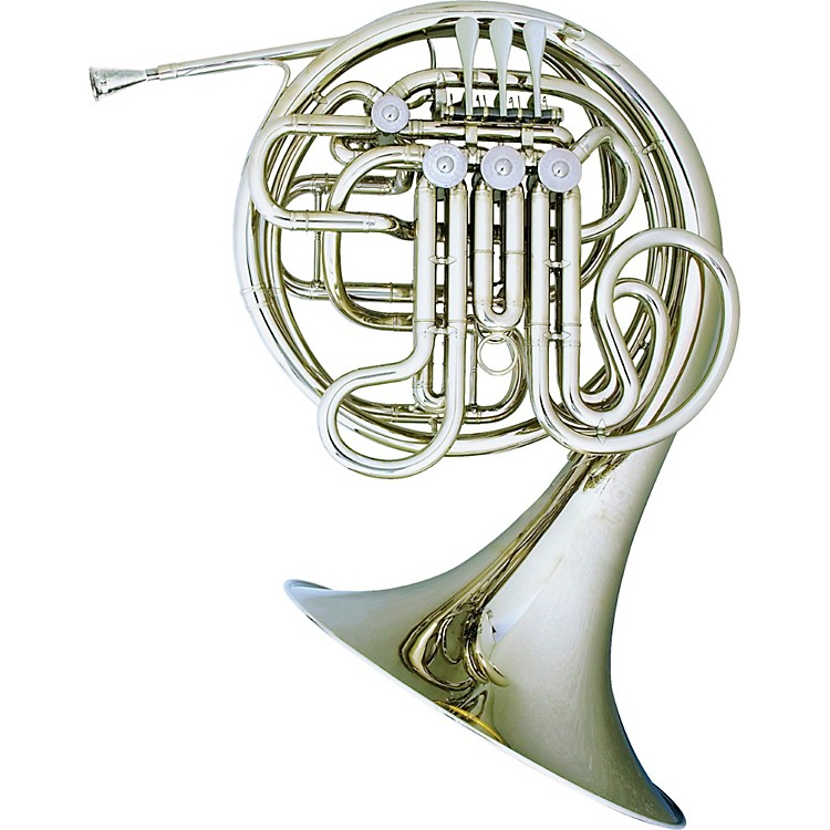 Hans Hoyer Heritage 6802 Bb/F Double French Horn String Mechanism Nickel