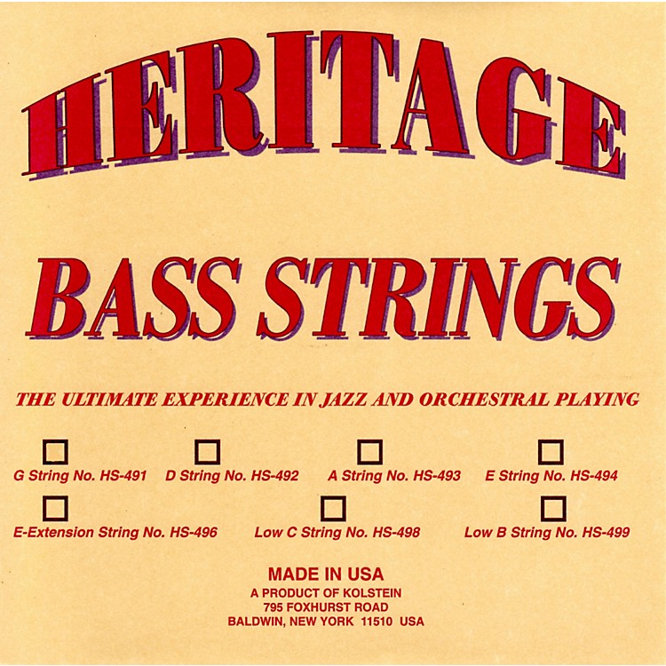 Kolstein Heritage Orchestral / Jazz Bass Strings HS-494 Set
