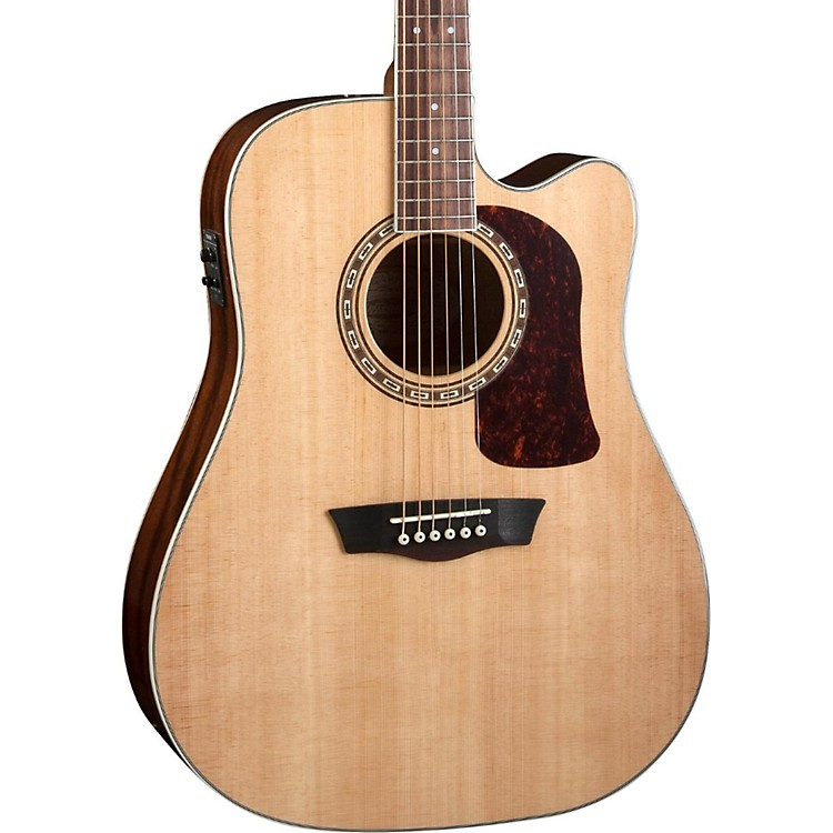 Washburn Heritage Series HD10SCE Acoustic-Electric Cutaway Dreadnought Guitar Gloss Tobacco Sunburst