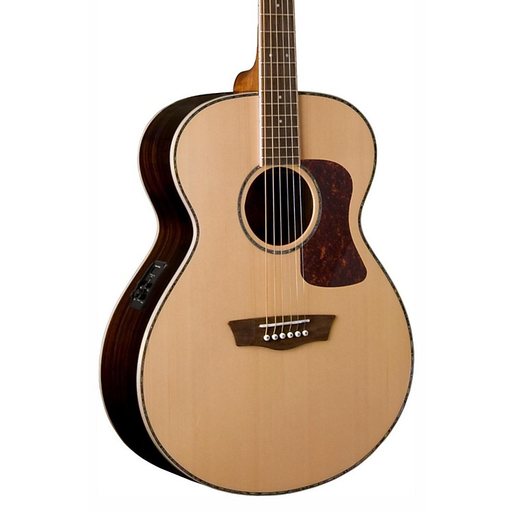 Washburn Heritage Series HG27SE-U Grand Auditorium Acoustic-Electric Guitar Natural