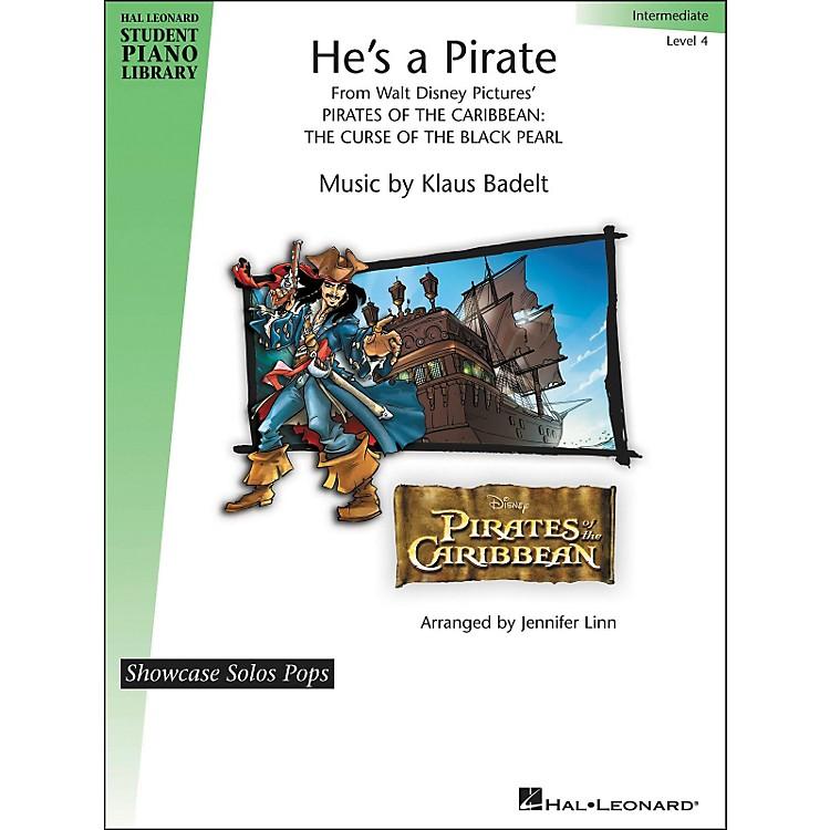 Hal LeonardHe's A Pirate - Showcase Solo Pops Level 4 - Intermediate Hal Leonard Student Piano Library by Jennifer Linn