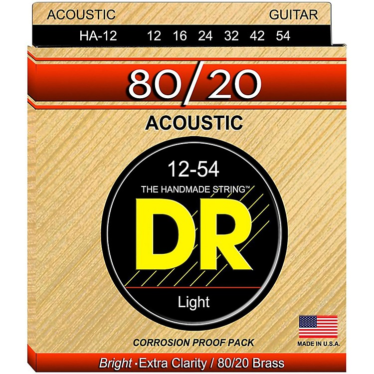 DR Strings Hi-Beam 80/20 Medium Acoustic Guitar Strings