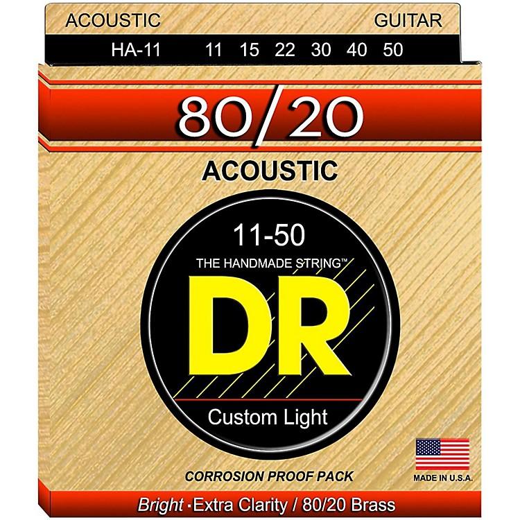 DR StringsHi-Beam 80/20 Medium Lite Acoustic Guitar Strings