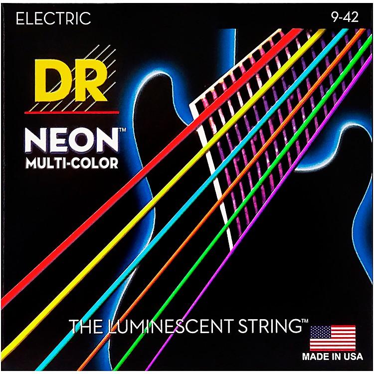DR StringsHi-Def NEON Multi-Color Coated Lite Electric Guitar Strings