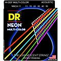 DR Strings Hi-Def NEON Multi-Color Coated Medium-Lite Acoustic Guitar Strings