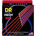 DR Strings Hi-Def NEON Red Coated Medium Acoustic Guitar Strings (12-54)