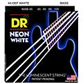 DR Strings Hi-Def NEON White Coated Medium 4-String Bass Strings