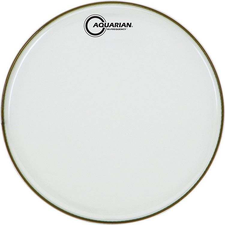 Aquarian Hi-Frequency Drumhead Black Clear 12 in.