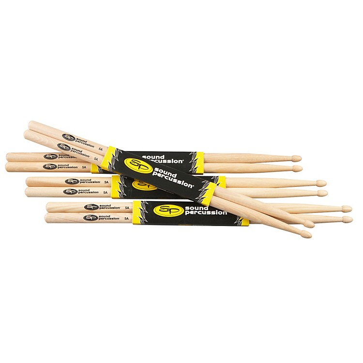 Sound Percussion Labs Hickory Drum Sticks 4-Pack 5A Wood