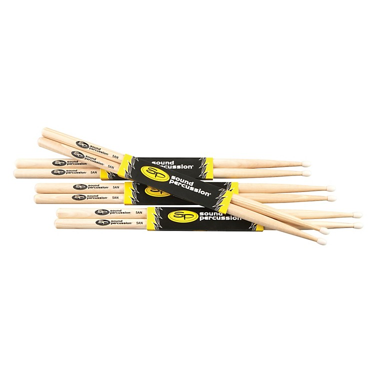 Sound Percussion LabsHickory Drumsticks 4-Pack5ANylon