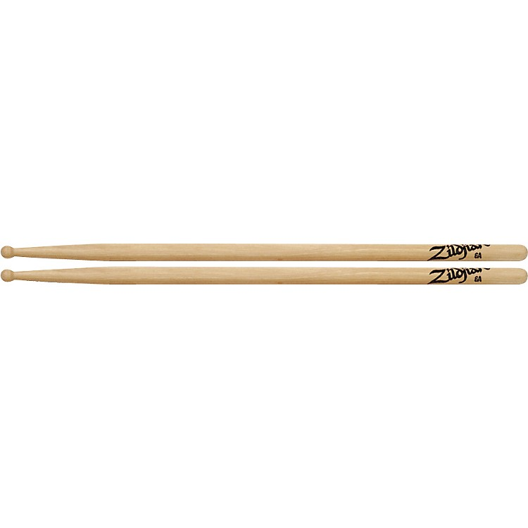 Zildjian Hickory Series Natural Drumsticks 6A Wood
