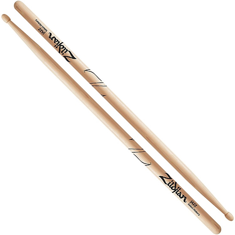 Zildjian Hickory Series Natural Drumsticks Jazz Wood