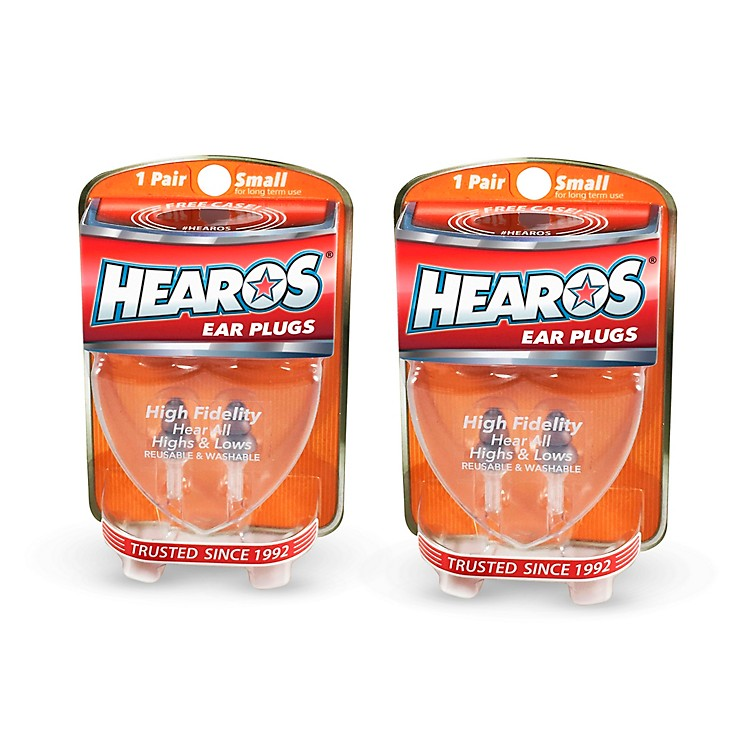 Hearos High Fidelity-Series Long-Term Earplugs (2 Pairs)