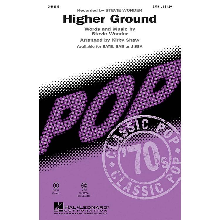 Hal LeonardHigher Ground SATB by Stevie Wonder arranged by Kirby Shaw