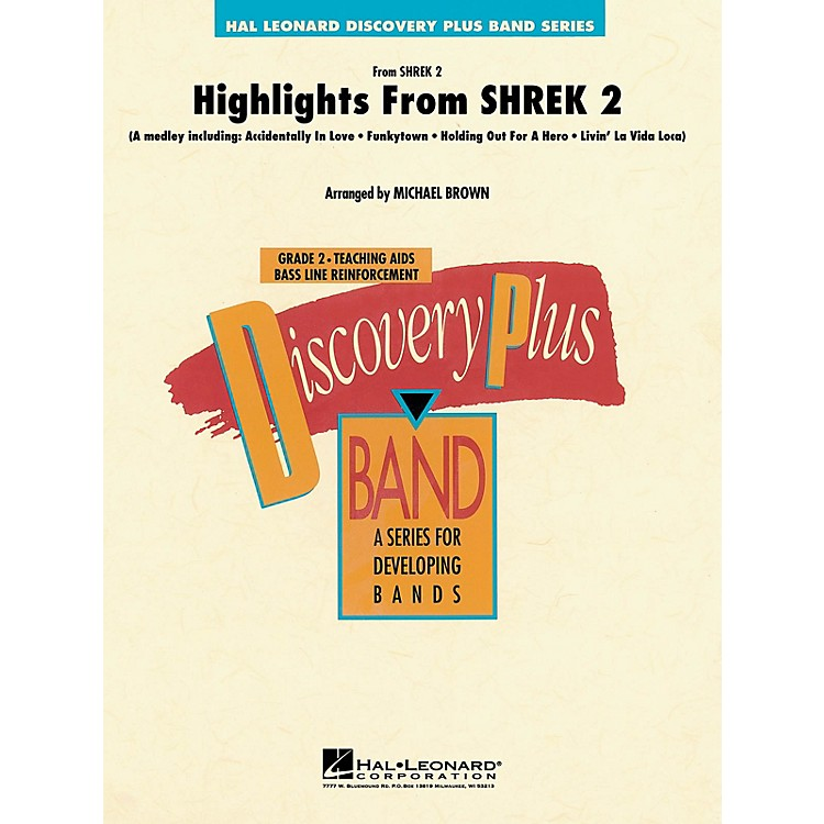 Hal LeonardHighlights from Shrek 2 - Discovery Plus Concert Band Series Level 2 arranged by Michael Brown