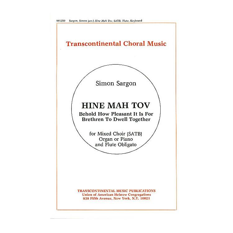 Transcontinental MusicHine Mah Tov SATB arranged by Simon Sargon