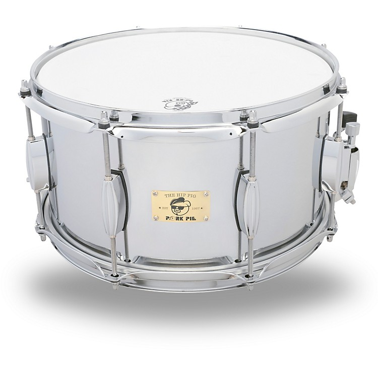 Pork Pie Hip Pig Chrome Steel Snare Drum 13 x 7 in.