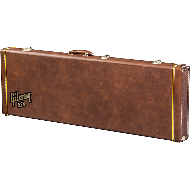 Gibson Historic Brown V Bass Case Brown Pink