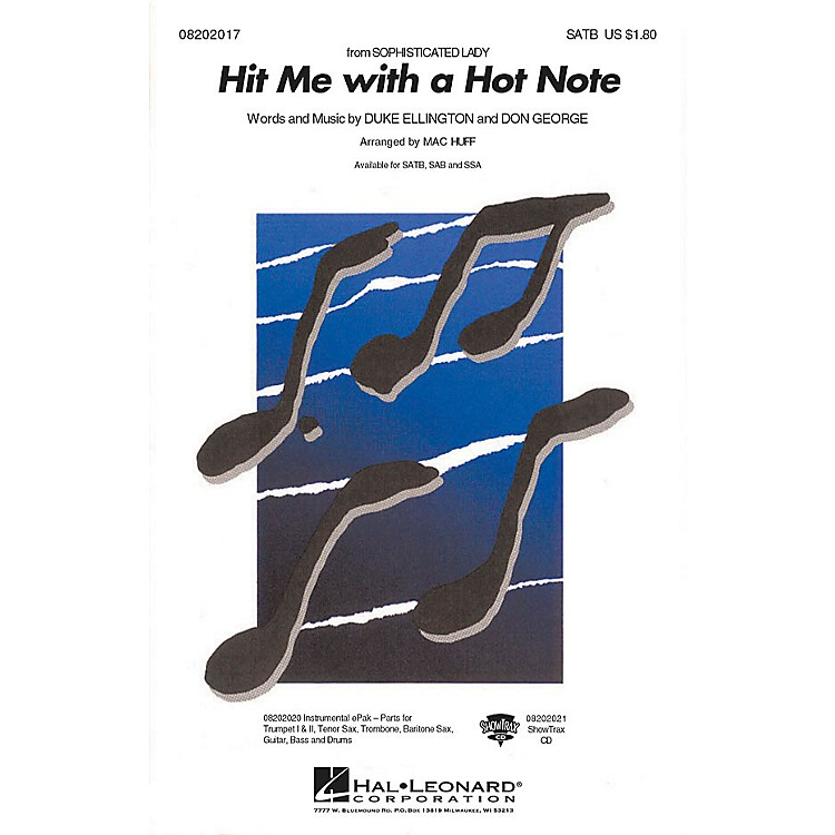 Hal LeonardHit Me with a Hot Note SATB arranged by Mac Huff