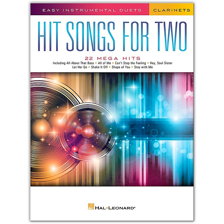Hal Leonard Hit Songs for Two Clarinets - Easy Instrumental Duets