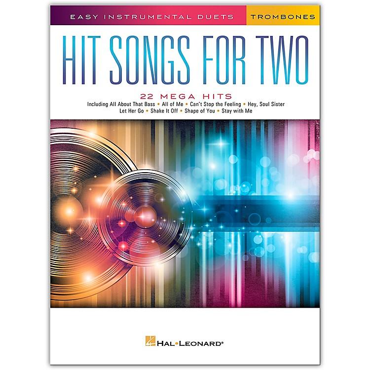 Hal LeonardHit Songs for Two Trombones - Easy Instrumental Duets