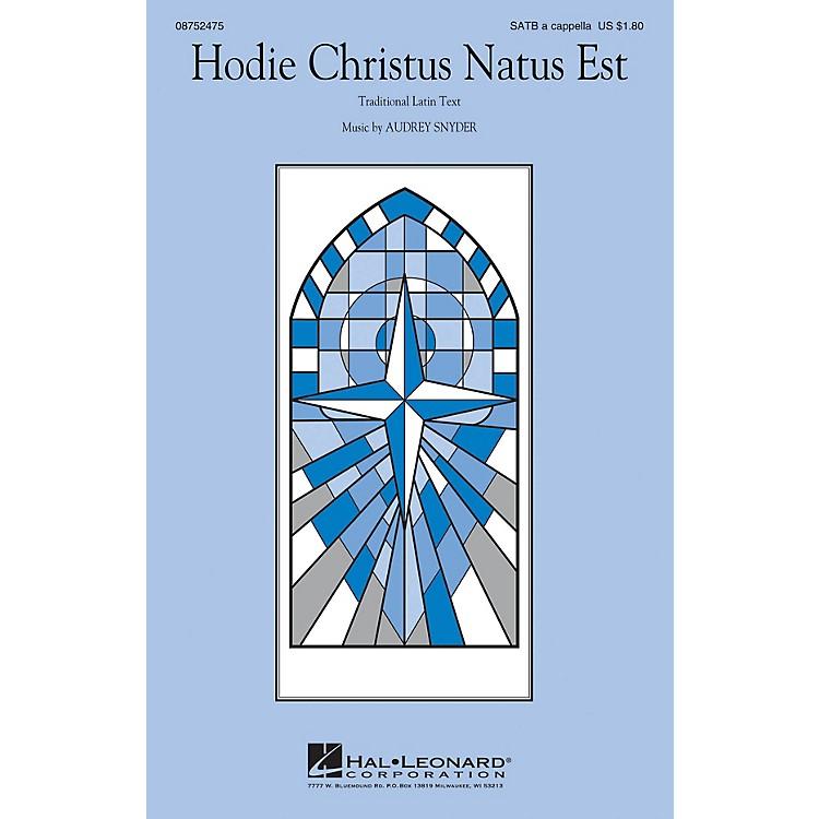 Hal LeonardHodie Christus Natus Est SATB composed by Audrey Snyder
