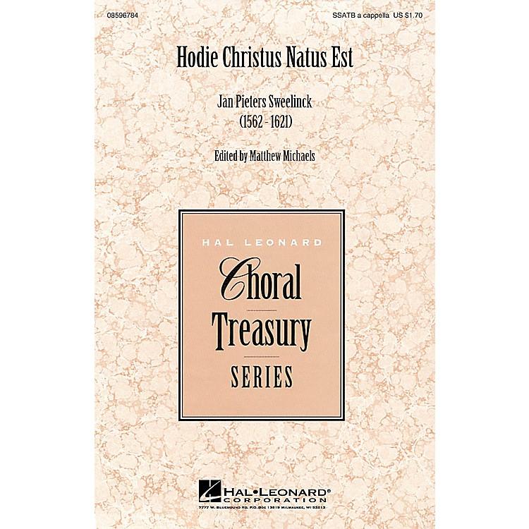 Hal LeonardHodie Christus natus est SSATB A Cappella composed by Jan Pieter Sweelinck