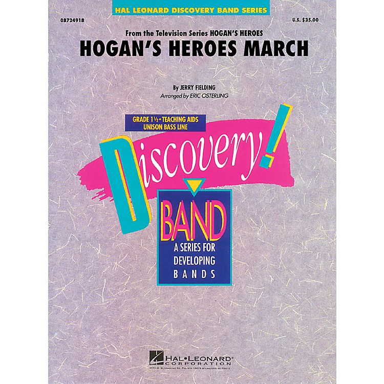 Hal LeonardHogan's Heroes March Concert Band Level 1.5 Arranged by Eric Osterling