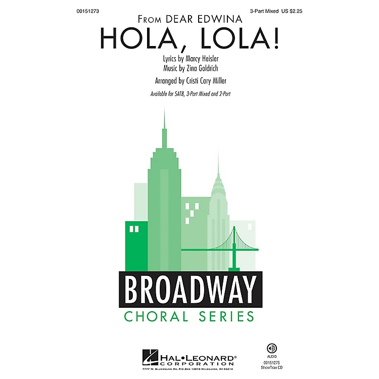 Hal LeonardHola, Lola! 3-Part Mixed arranged by Cristi Cary Miller
