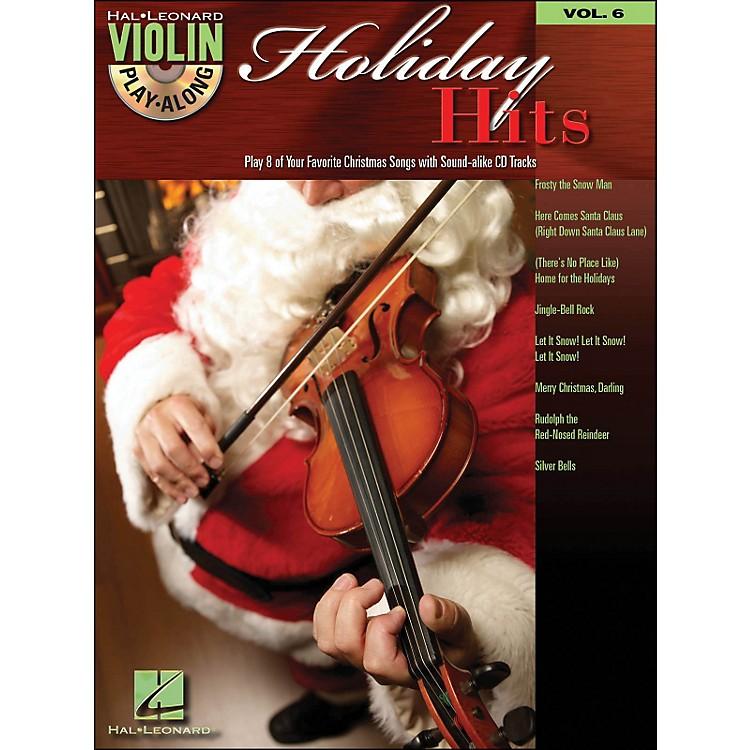 Hal LeonardHoliday Hits Violin Play-Along Volume 6 Book/CD