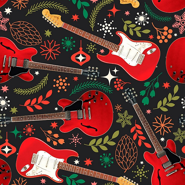 Hal LeonardHoliday Red Guitars Premium Gift Wrapping Paper